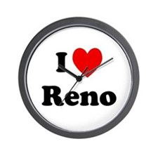 I Love Reno Wall Clock