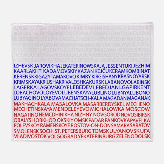 Russian Cities Flag Throw Blanket