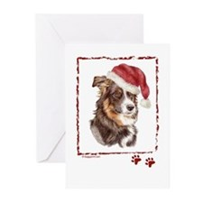 Merry Christmas Border Collie Greeting Cards