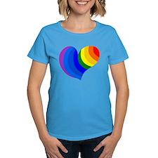Rainbow Heart Tee