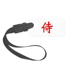 Samurai Kanji Red Luggage Tag