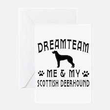 Scottish Deerhound Dog Designs Greeting Card