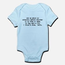 Ask Me About My ADD Infant Bodysuit