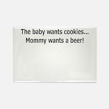 baby cookien beer.png Rectangle Magnet