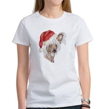 Christmas Chinese Crested dog Tee