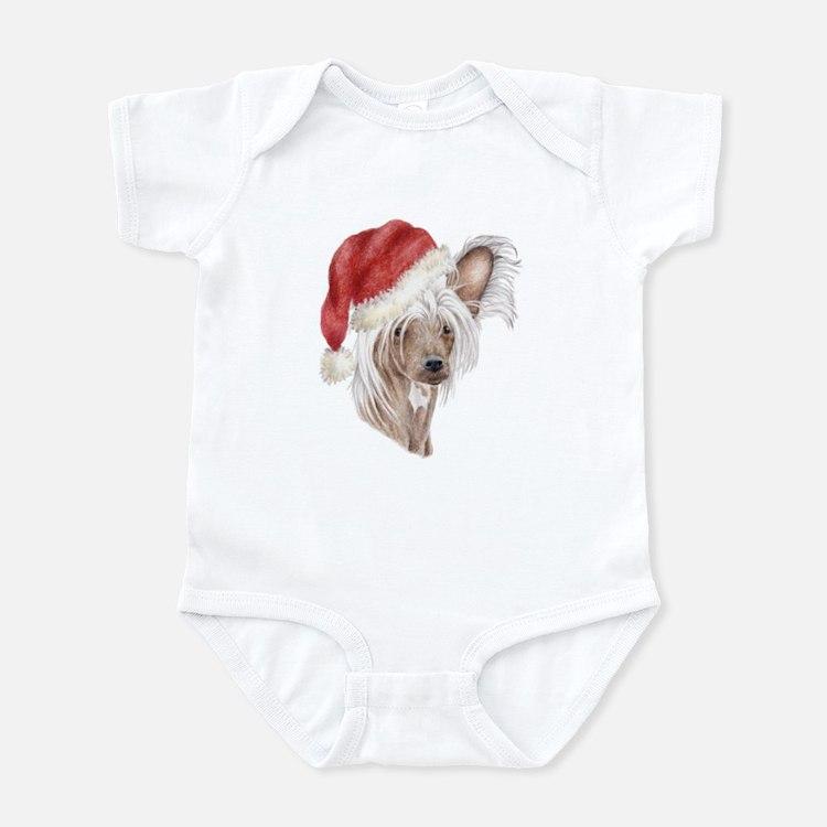 Christmas Chinese Crested dog Infant Bodysuit