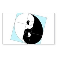 Golden Ratio Yin and Yang Decal