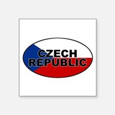 Czech Republic Oval Sticker