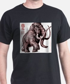 2006 England Ice Age Mammoth Postage Stamp T-Shirt