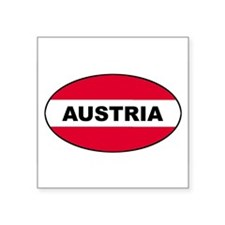 Austrian Flag Oval Sticker