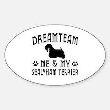 Sealyham Terrier Dog Designs Sticker (Oval)