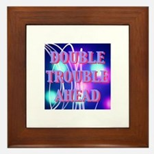 Double Trouble Ahead twins Framed Tile