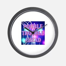 Double Trouble Ahead twins Wall Clock