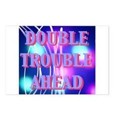 Double Trouble Ahead twins Postcards (Package of 8