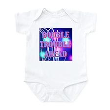 Double Trouble Ahead twins Infant Bodysuit