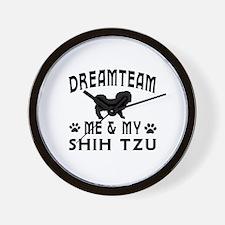 Shih Tzu Dog Designs Wall Clock