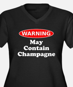 May Contain Champagne Warning Plus Size T-Shirt