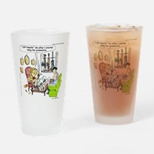 Hunting With Automatics Drinking Glass