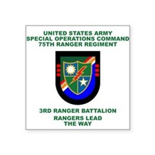 3rd Ranger Battalion Flash Sticker