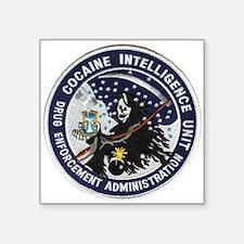 D.E.A. Cocaine Intel Rectangle Sticker