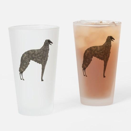 Borzoi Silhouette Drinking Glass