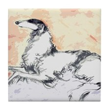 Unique Borzoi Tile Coaster