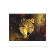 """Wolf"" Rectangle Sticker"
