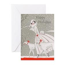 Art Deco Christmas Cards 10PK