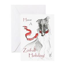 Borzoi Christmas Card_edited-1 Greeting Cards