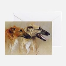 Borzoi Heads Cards (20 PK)