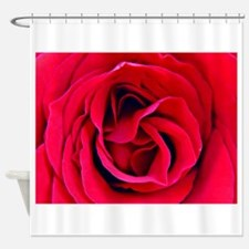 Red Rosa OKeefe Shower Curtain