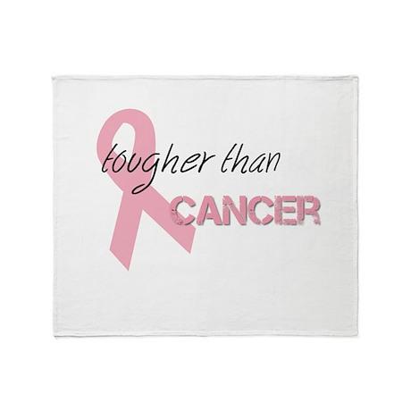 Tougher Than Cancer Throw Blanket