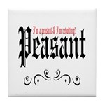 Peasant Wear Tile Coaster