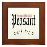 Peasant Wear Framed Tile