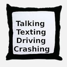 Talking Texting Driving Crashing Throw Pillow