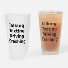 Talking Texting Driving Crashing Drinking Glass