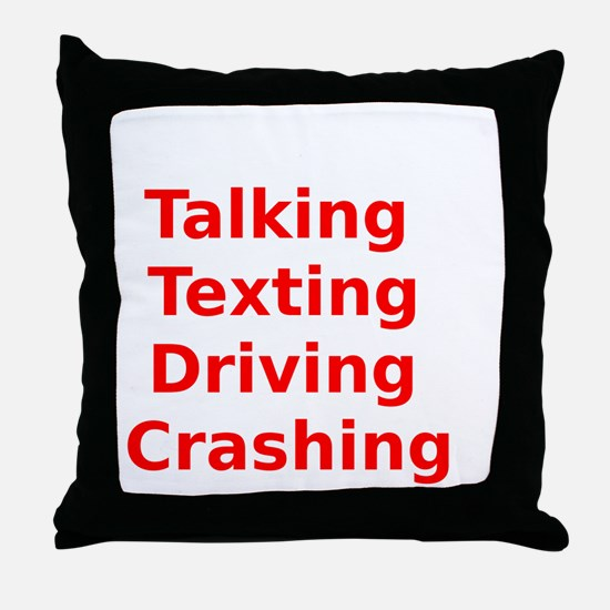 Talking Texting Driving Crashing Throw Pillow