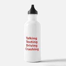 Talking Texting Driving Crashing Water Bottle