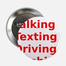 "Talking Texting Driving Crashing 2.25"" Button"