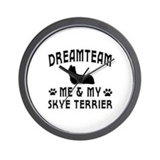 Skye Terrier Dog Designs Wall Clock