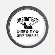 Skye Terrier Dog Designs Wall Clock