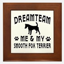 Smooth Fox Terrier Dog Designs Framed Tile