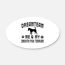 Smooth Fox Terrier Dog Designs Oval Car Magnet