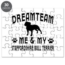 Staffordshire Bull Terrier Dog Designs Puzzle