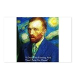 Van Gogh Paint My Dream Postcards (Package of 8)