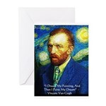 Van Gogh Paint My Dream Greeting Cards (Pk of 20)