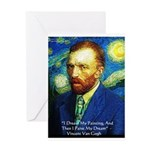 Van Gogh Paint My Dream Greeting Card