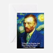 Van Gogh Paint My Dream Greeting Card