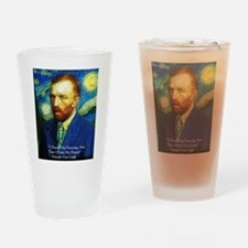 Van Gogh Paint My Dream Drinking Glass