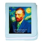 Van Gogh Paint My Dream baby blanket